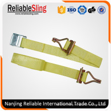 Ce GS En12195-2 Yellow D-Shaped Buckle Belt