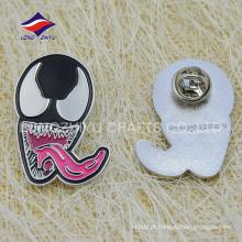 Emblema de espelho macio personalizado em borboleta de prata com seu design