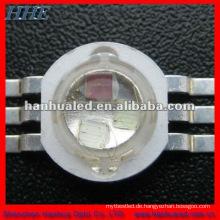 3 * 1w w RGB 6 Pins High Power LED mit einem Kühlkörper 120 Grad