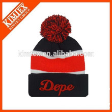 wholesale acrylic custom beanie hats with top ball
