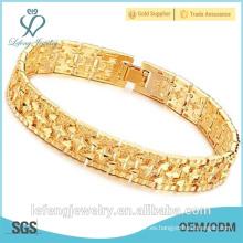 Joyería al por mayor joyería de moda 18k pulsera chapada en oro
