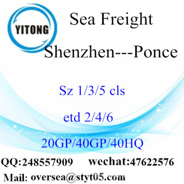 Shenzhen Port Sea Freight Shipping ke Ponce