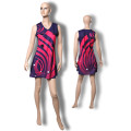 Women digital print sublimated netball jersey dress