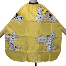 Yellow Children′s Cape Puppy Haircut Cloth Cartoon Pattern Printed Apron