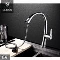 Elegant Deck Mount Pull Out Kitchen Faucet