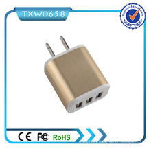 Mobile Charger 3 USB 5V 2.1A USB Wall Charger