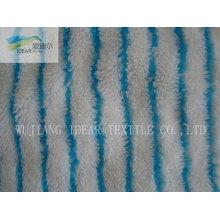 Poliéster impresso tecido Plush PV para cobertor