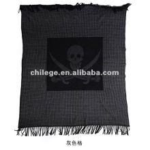 bedrucktes Bett aus hochwertigem Kaschmirgewebe wirft Decken