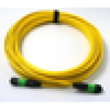 MPO cable de conexión de fibra óptica monomodo, cable de conexión de fibra óptica 9/125 con precio barato por metro