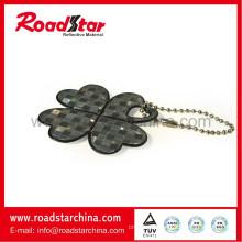 High luminance reflective key chain, reflective badge, reflective key ring