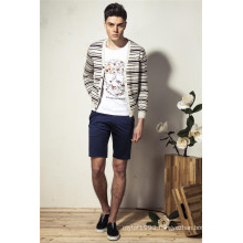 100%Cotton Deep V-Neck Knit Men Cardigan