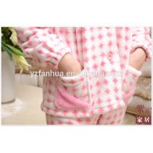 Tamaño Customed mujeres juego de los pijamas de invierno Homewear