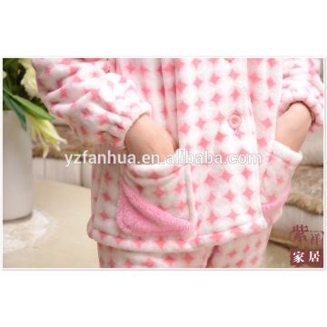 Full Size Customed Women Pajamas Suit for Winter Homewear