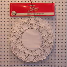 8.5inch round paper doily in header card