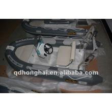 rigid CE rib350 fiberglass with pvc or hypalon inflatable boat