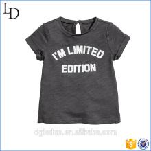 Personnalisé votre propre logo col rond 100% coton manches courtes enfant T-shirt