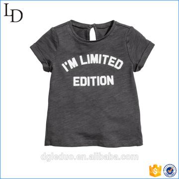 Personaliza tu propio logotipo Cuello redondo 100% algodón manga corta niño camiseta