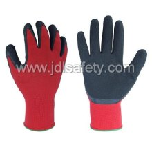 Gants de travail latex avec poignet tricoté (LY3015) (CE approuvé) - noir