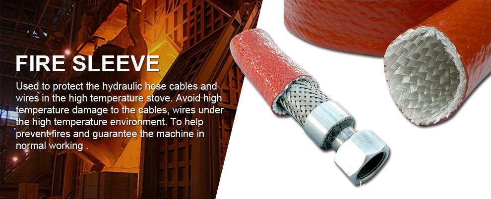 Silicone Rubber Coated E Grade Fiberglass Fireproof Sleeve