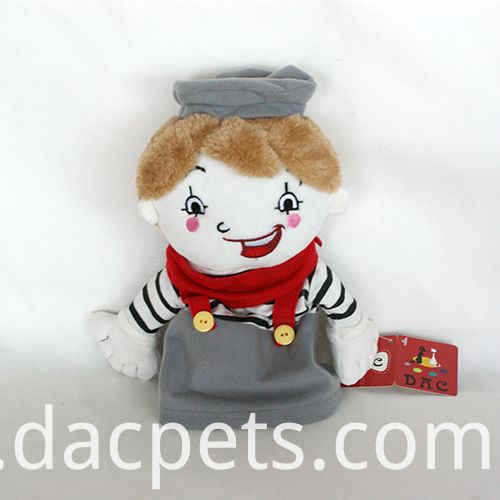 cartoon boy plush hand puppet