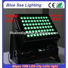 Hochleistungs DMX 60pcs 10w 4 in 1 Farbe ändern im Freien geführtes Flutlicht