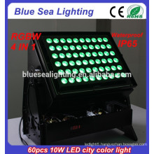 High power DMX 60pcs 10w 4 in 1 color changing outdoor led flood light