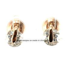 De buena calidad y fina joyería Pendientes de cristal Rhinestone Platino de rodio de las mujeres plateado Ear Earring Joyería de plata blanca E6306