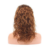 4# Color Big Loose Curl Texture Indian Remy Hair Lace Front Wig, 14-inch for WholesaleNew