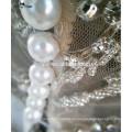 RSW851 tiefe Ausschnitt-bloße rückseitige Perlen-Knopf-Stickerei Bling Luxuxchina-nach Maß Hochzeits-Kleid-Ballkleid