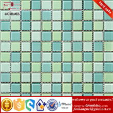 China supply building materials bathroom floor tiles mosaic Glass Tiles green