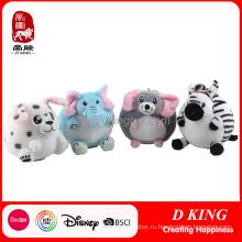 Круглый изготовленный на заказ плюшевые мягкие игрушки животных для детей