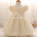 Новорожденный девочка платья с Cap супер лук Диаманд пояса младенца Крещение платья 1 год платье день рождения