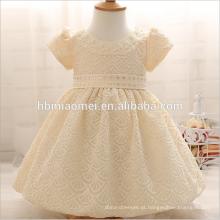 Vestidos Da Menina Do Bebê recém-nascido com Cap Super Voltar Bow Diamand Belt Bebê Baptizado Vestidos de 1 ano vestido de aniversário