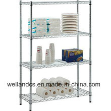 4 Tiers Adjustable Metal Steel Storage Rack Fabricante