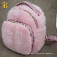 Outdoor and Custom Real Mink Fur Backpack for Sport Mink Fur Backpacks