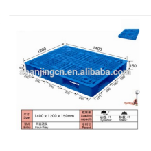 Cheap heavy duty single faced 4-way plastic pallet