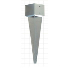 Galvanized Steel Fence Pole Anchor, Steel Ground Spike