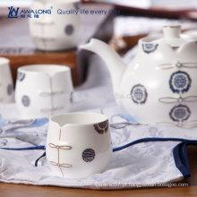 Azul Pintando Oriental Estilo Fine Bone China Personalizado Chá Pires Saucer Set
