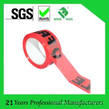 Logotipo personalizado logotipo de cinta de embalaje frágil silencioso de poco ruido