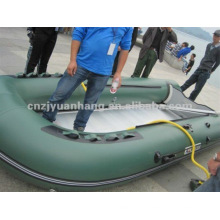 4.3m 0.9 pvc 3 layer optional floor color miltary rubber inflatable boat