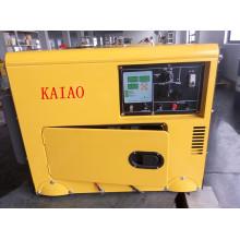 Generador diesel silencioso simple de la fase 50Hz / 4.2kw de la CA con el tablero del panel de Digitaces para la tienda y el uso del hotel