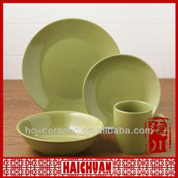 Stoneware dish set, stoneware set