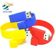 Custom Printed silicone USB bracelet Promotional Gift