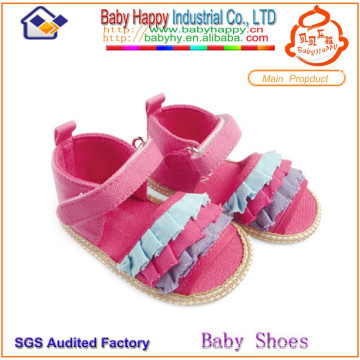 High quality pink girls babies shoes and sandals