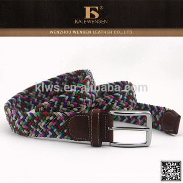 Cheap hottest knit high quality western colourful fabric belt for dress
