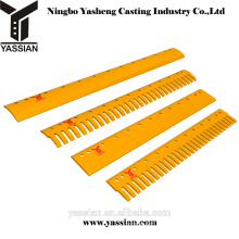 new design grader spare parts curved grader blade high quality serrated grader cutting edge for sale