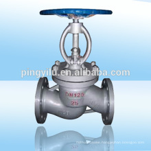 motorized globe valve manual cast steel flange end rising stem globe valve precision safety stem for pipeline