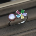 Colorful Freshwater Cultured Pearl Ring Design