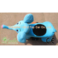 blue elephant ride car