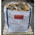 Верхняя открытая, нижняя плоская вентилируемая большая сумка для дров
